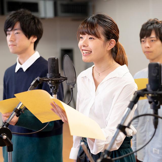 専門学校東京アナウンス学院 放送声優科の体験入学「アニメのアテレコ体験」1
