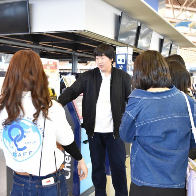 大阪観光大学 エアライン体験ツアー2