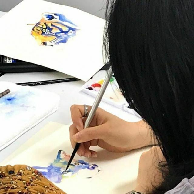 専門学校日本デザイナー学院 九州校 【高3・社会人限定5名!】水彩でイラストを描こう!1