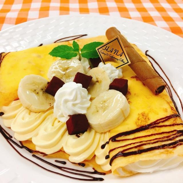 華調理製菓専門学校 【7月16日】体験Aキャラメルバナナクレープ&デコドーナッツ1