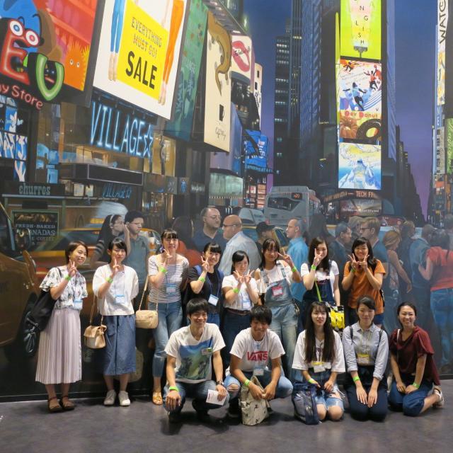 ホスピタリティ ツーリズム専門学校大阪 【特別イベント】イングリッシュ・ビレッジでアメリカ体験1