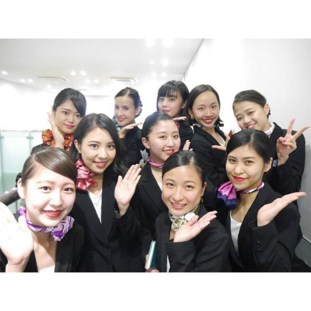 名古屋外語・ホテル・ブライダル専門学校 まだ間に合う!高校3年生大歓迎!国際エアラインコース4