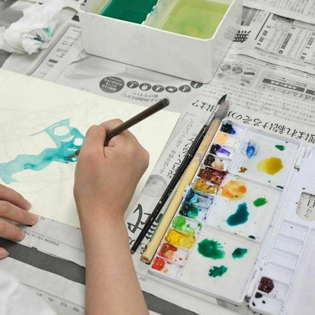 専門学校日本デザイナー学院 九州校 【高3・社会人限定5名!】水彩でイラストを描こう!3