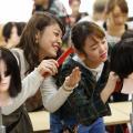 大阪ベルェベル美容専門学校 前下がりボブのカットや編みおろしのヘアアレンジを体験!