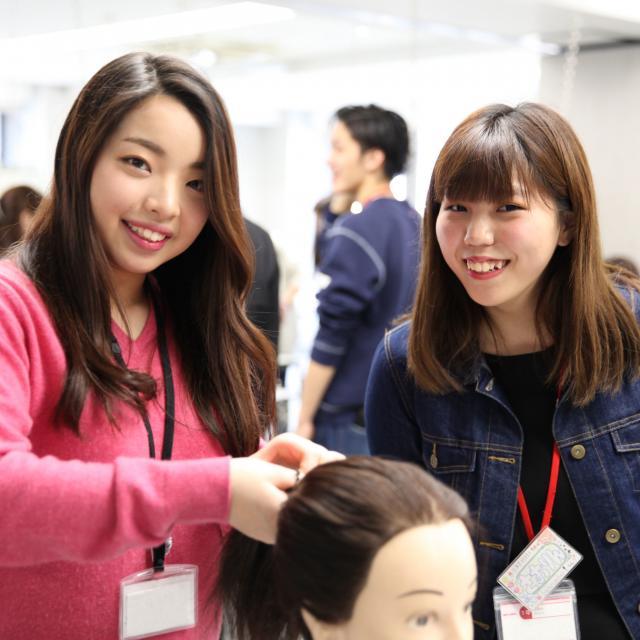 大阪ベルェベル美容専門学校 実際に美容に関する技術に触れて体験しよう!3