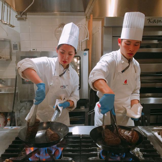 山手調理製菓専門学校 【西洋料理】ベーコンと季節野菜の生パスタ3