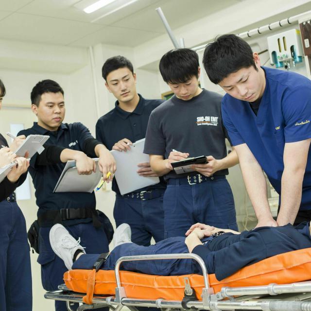 湘央生命科学技術専門学校 オープンキャンパス☆救急救命士 体験コース2