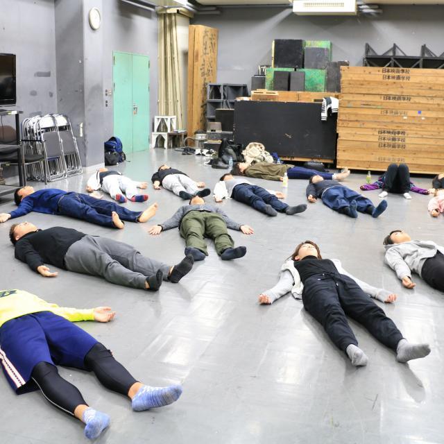 日本映画大学 高校生のためのワークショップ 身体表現2