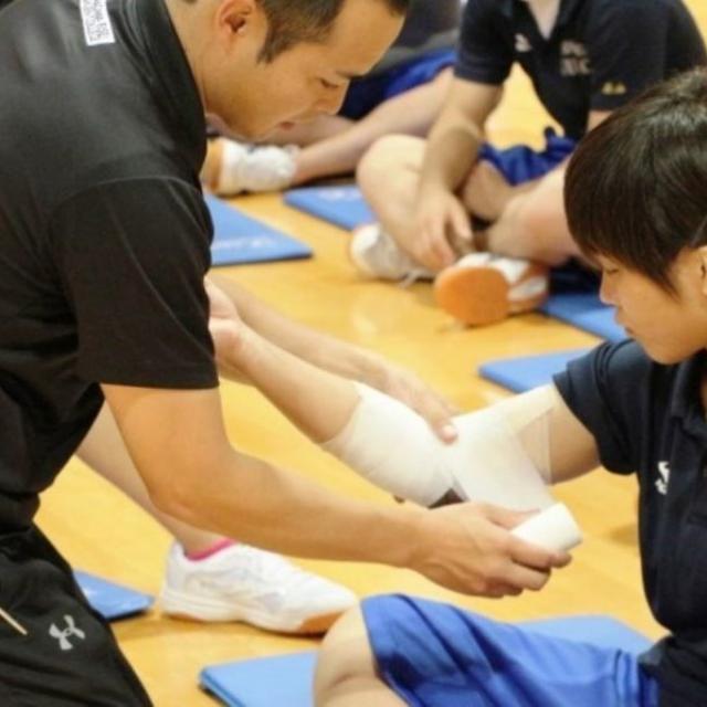 神奈川衛生学園専門学校 【鍼灸マッサージ】トレーニング&テーピング講座4