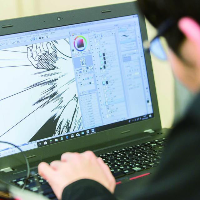 日本デザイナー学院 デジタルマンガ1