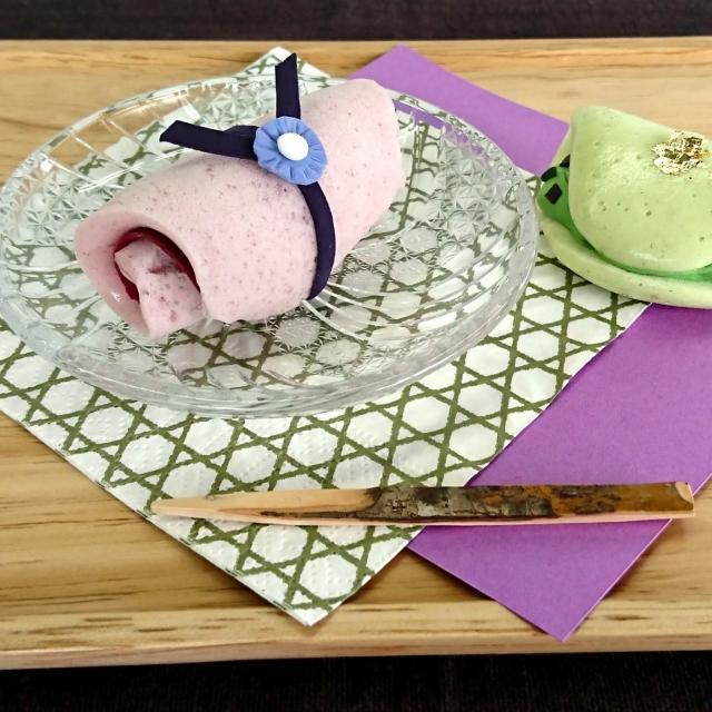 日本デザイン福祉専門学校 9/23(日)和菓子なロールケーキ作り1