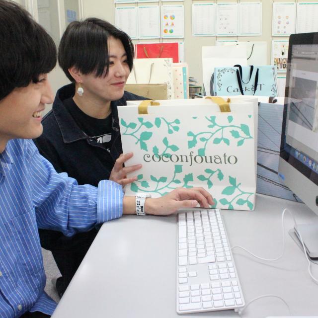 香蘭ファッションデザイン専門学校 ☆★☆オリジナルショッパーバッグ作成★☆★1