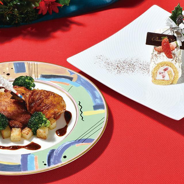 織田調理師専門学校 【12月】鶏もも肉のローストチキン&プチ・ブッシュドノエル1