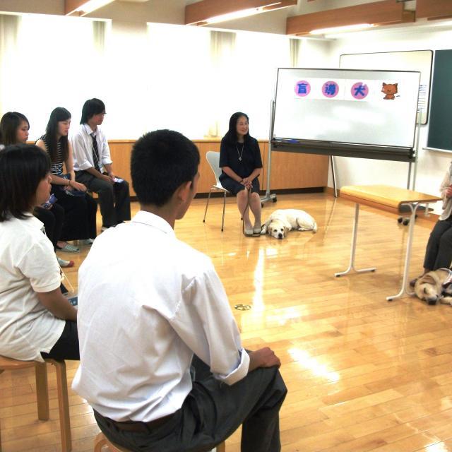 【介護福祉学科】盲導犬の理解&視覚障がい体験