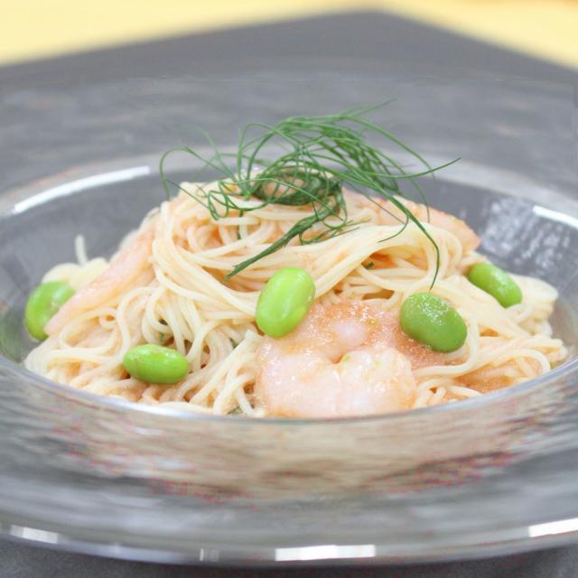 華学園栄養専門学校 夏野菜の冷製パスタ1