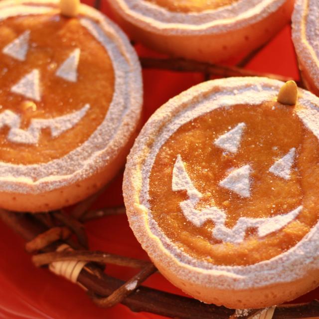 かぼちゃを使ったハロウィンケーキ☆