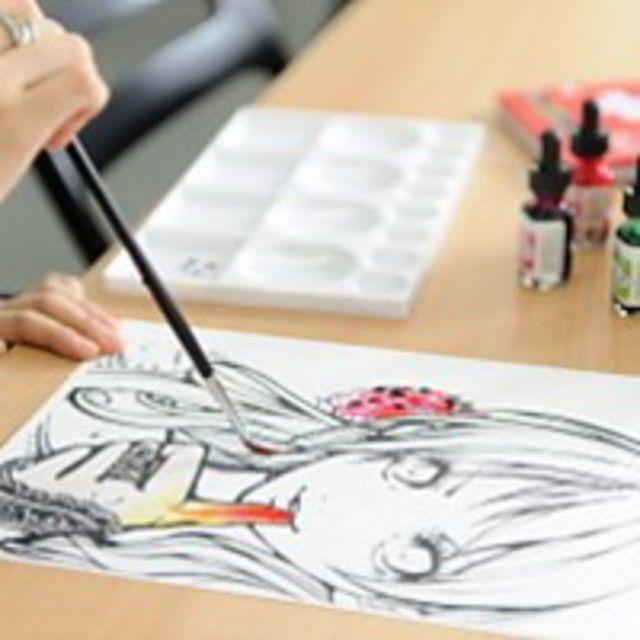 東京コミュニケーションアート専門学校 イラスト描き放題DAY4