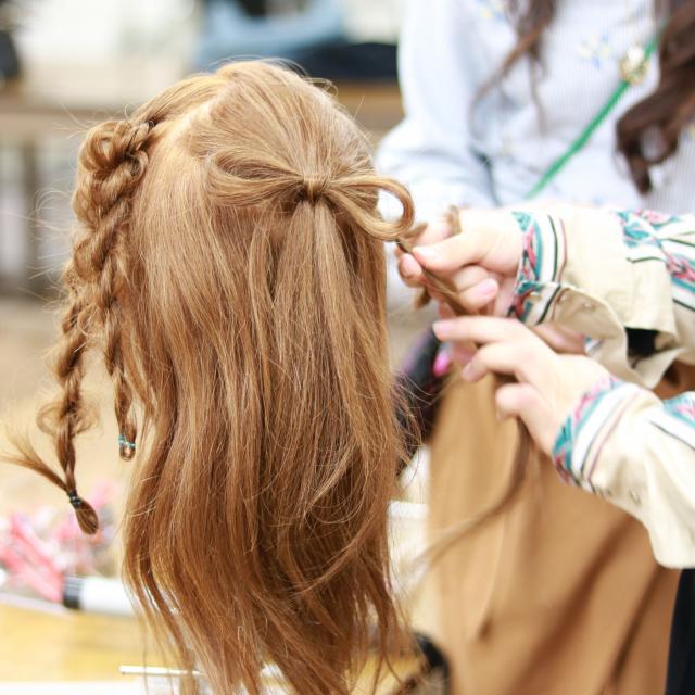YIC京都ビューティ専門学校 ヘアカラー&ワインディング&ブライダルヘアアレンジ体験4