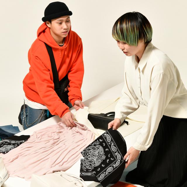 織田ファッション専門学校 雑誌のスタイリスト体験1