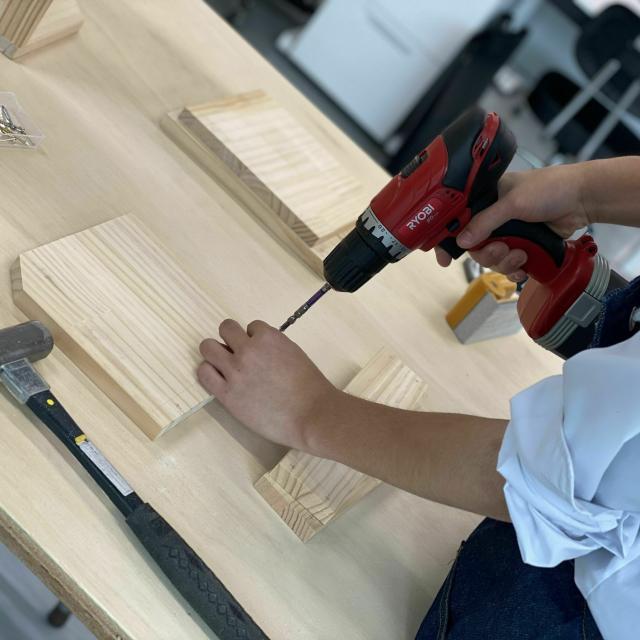 仙台工科専門学校 熟練の匠のもとで木工体験をしよう!【大工技能学科】4