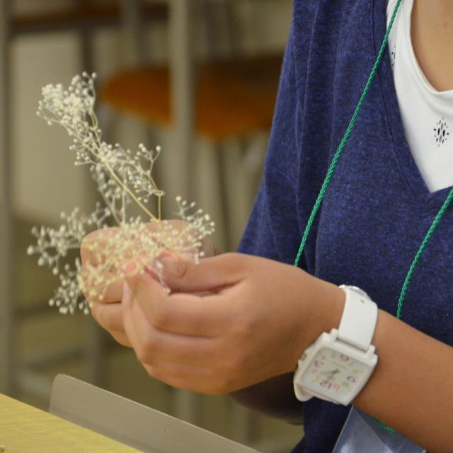 日本ガーデンデザイン専門学校 庭の模型作り1