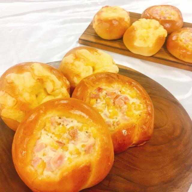 華調理製菓専門学校 【7月25日】製菓A チーズロール&ハムマヨコーンパン1