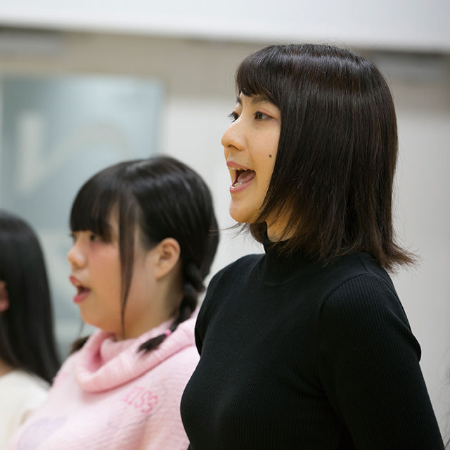 専門学校東京アナウンス学院 放送声優科の体験入学「発声発音実習」1