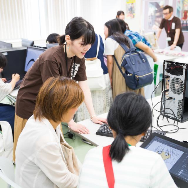 大阪アニメーションカレッジ専門学校 土日は体験授業へ♪保護者と参加もOK!プロの先生の体験授業2