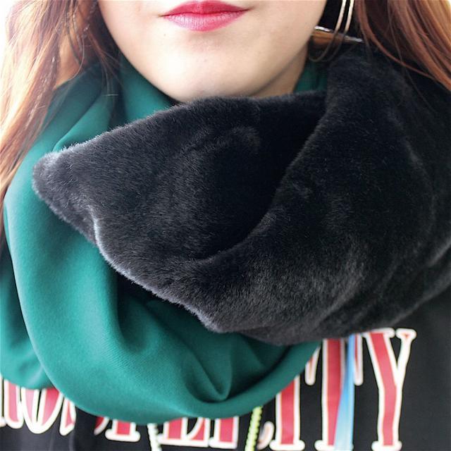足利デザイン・ビューティ専門学校 ファッションデザイン科:秋のマストアイテム 簡単スヌード製作1