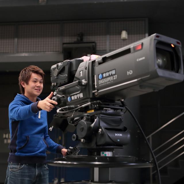 放送技術科体験入学「テレビ番組撮影・編集入門」
