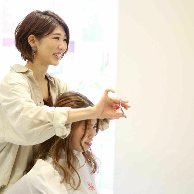 大阪ベルェベル美容専門学校 可愛い大人アレンジ&大流行フェイスフレーミングカラー3