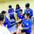【テーピング体験】部活動でも使えるテーピング体験☆/福岡リゾート&スポーツ専門学校