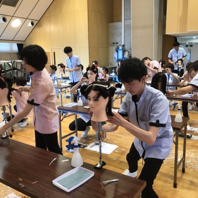 仙台理容美容専門学校 夏の体験入学フェスタ1