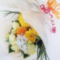 大阪ビジネスカレッジ専門学校 お花大好き♪イエロー系でまとめたフラワーブーケ