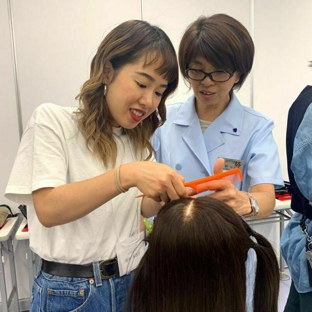 日本美容専門学校 放課後体験1