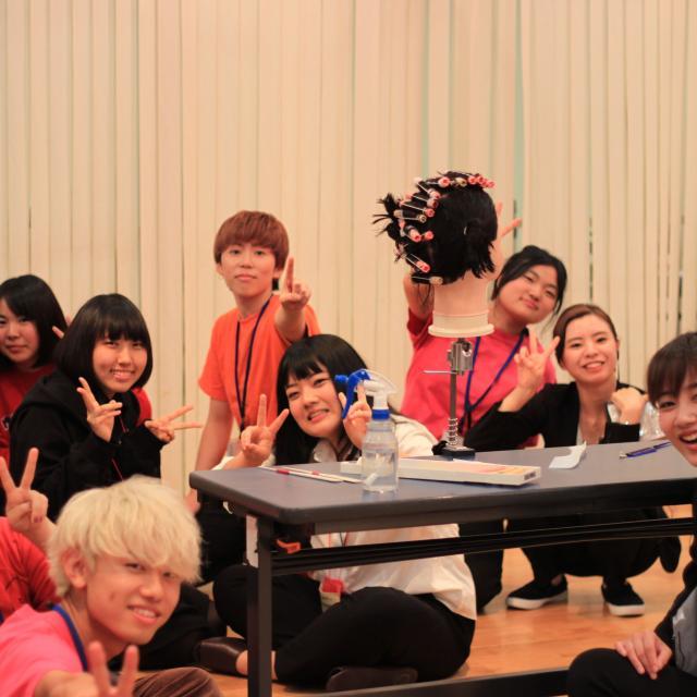 理容美容専門学校西日本ヘアメイクカレッジ オープンキャンパス委員スペシャル3