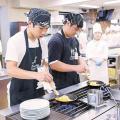 武蔵野調理師専門学校 自由にまわってチャレンジ
