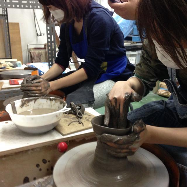日本デザイン福祉専門学校 7/28(土)陶芸たたら講座1