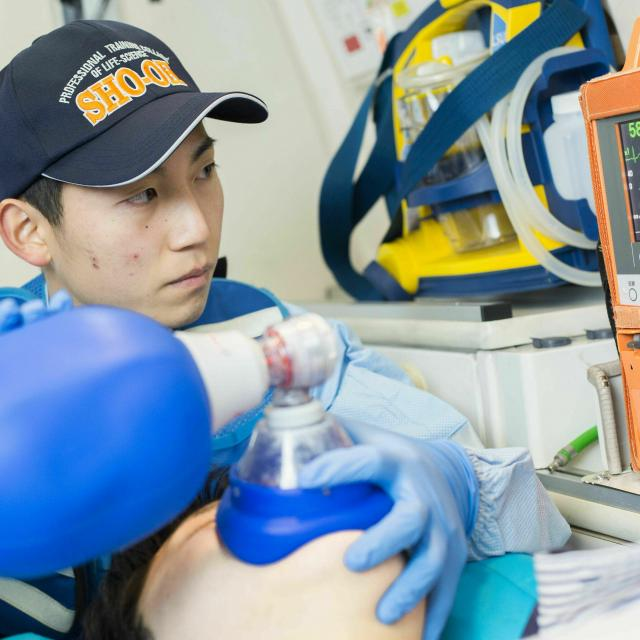 湘央生命科学技術専門学校 オープンキャンパス☆救急救命士 体験コース3