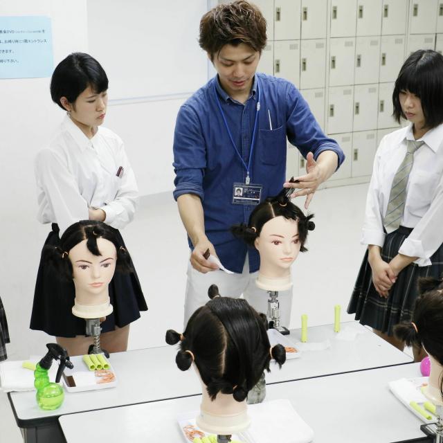国際文化理容美容専門学校渋谷校 放課後体験入学会1