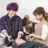 名古屋理容美容専門学校 7/4 ヘアトリートメント&アレンジ