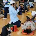 【救急救命士科】交通事故発生!救急救命士が行う外傷処置を体験