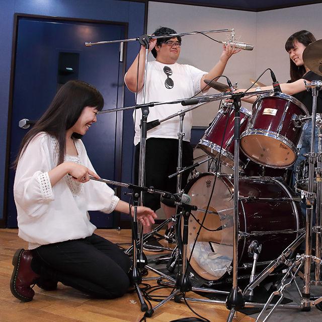 東放学園音響専門学校 音響技術科の体験入学「ヴォーカルや楽器の音をレコーディング」1