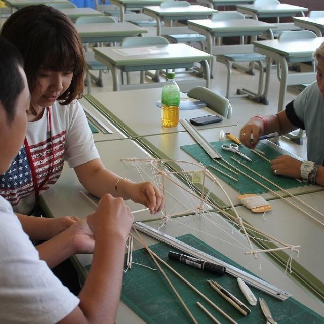 浅野工学専門学校 【建築の仕事に大切なこと】「ものづくり体験」1