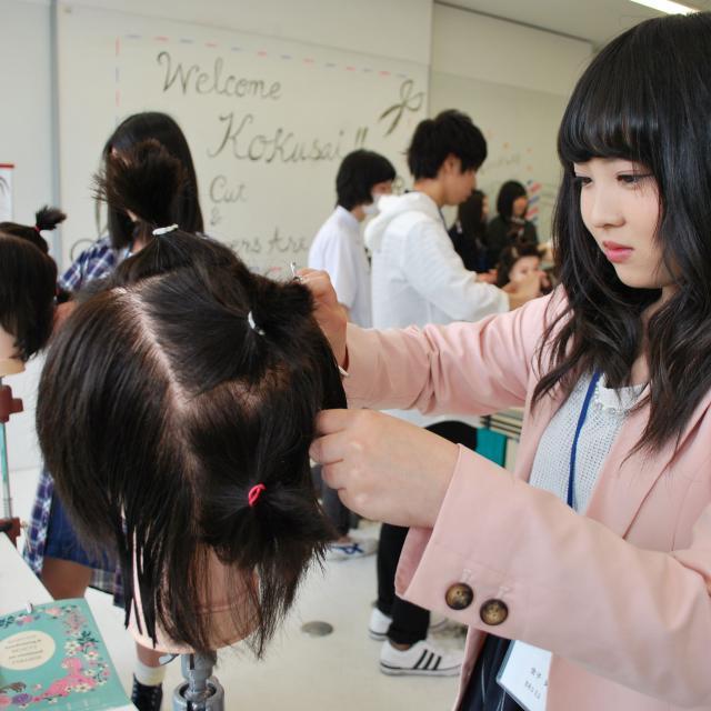 国際理容美容専門学校 理容科 体験入学2