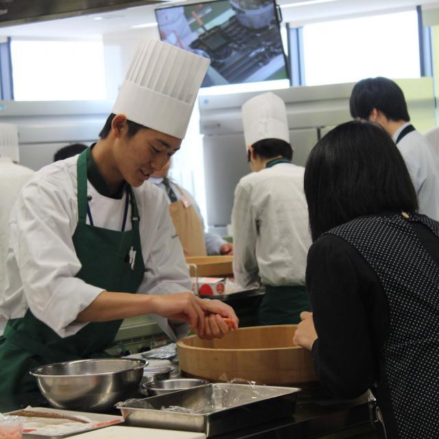 中央調理製菓専門学校静岡校 体験入学1
