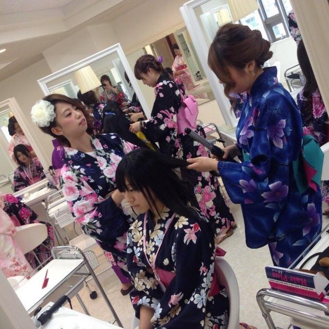 広島ビューティー&ブライダル専門学校 浴衣を着てとうかさんへ行こうイベント♪2
