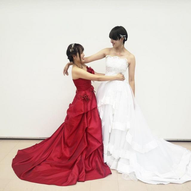 神戸ファッション専門学校 11/13 ドレス試着体験2