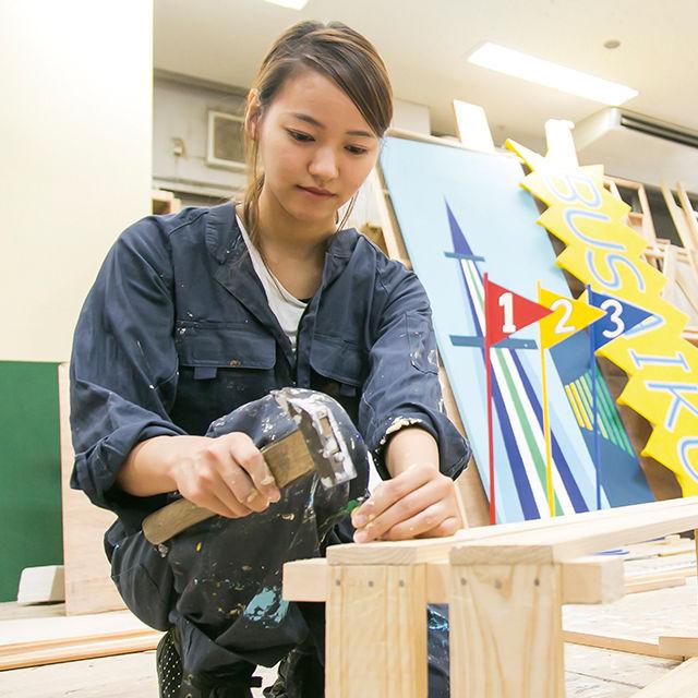 東放学園専門学校 テレビ美術科の体験入学「美術スタッフの仕事を体験しよう!」1