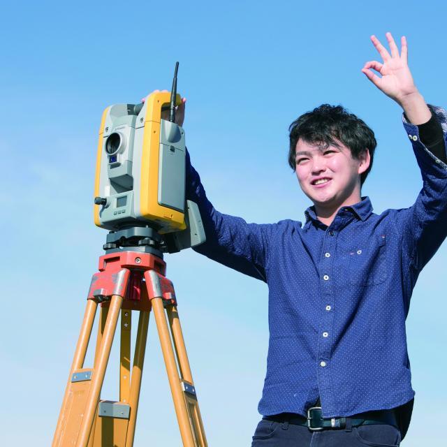 中央工学校 2018体験入学☆測量機器を使ってみよう!2